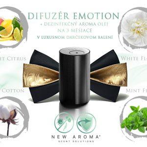 Difuzér eMotion Black s dezinfekčnou vôňou na 3 mesiace