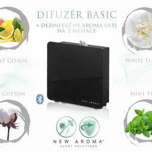 Difuzér Basic New Black s dezinfekčným aroma olejom